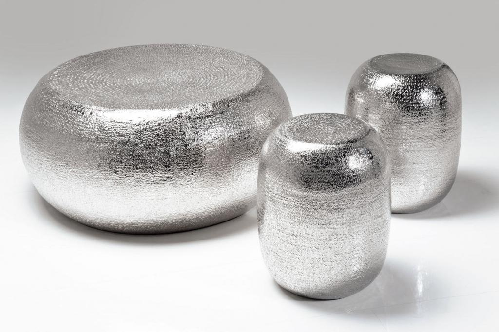 Kare design couchtisch hocker antico silber 3 s for Design couchtisch s 360